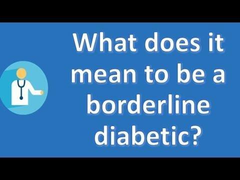 What Does It Mean If A Doctor Says That A Person Is Pre Diabetic?