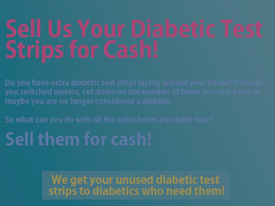 Cash For Diabetic Test Strips Near Me