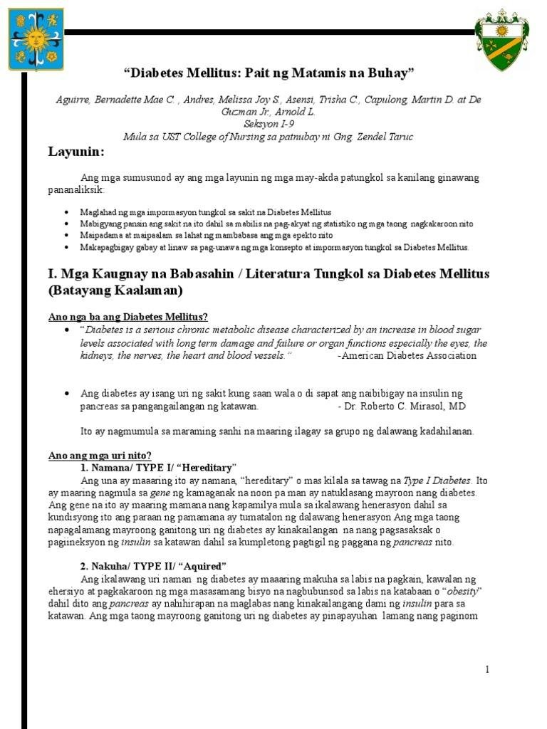 Filipino - Diabetes Mellitus - Finale