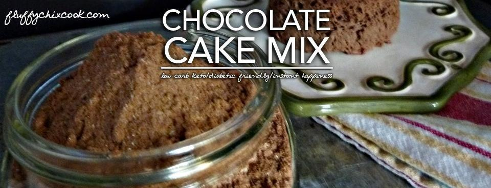 Keto Chocolate Cake Mix Low Carb & Diabetic Friendly