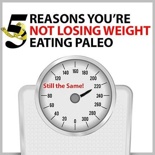 5 Reasons You're Not Losing Weight On Paleo