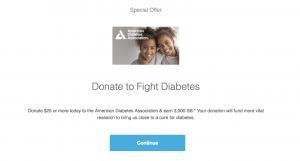 Swagbucks: Get $30 Bonus With Donation To American Diabetes Association