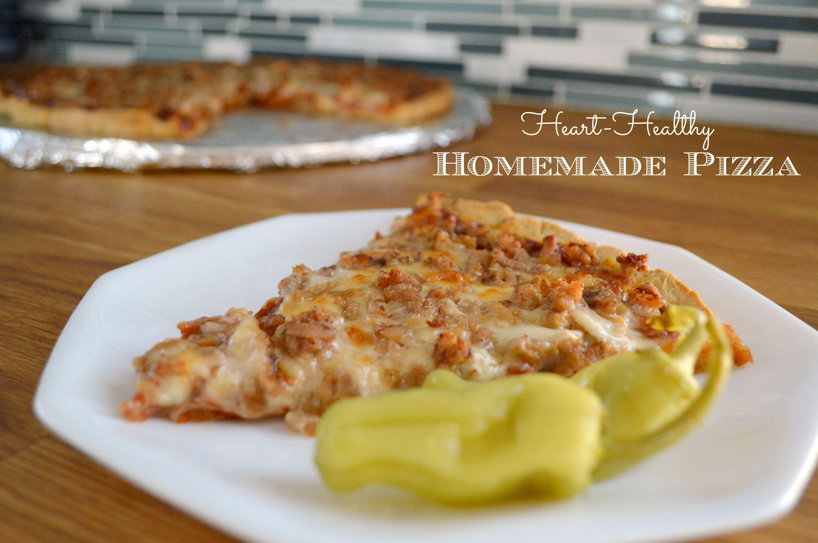Diabetic Heart Healthy Pizza
