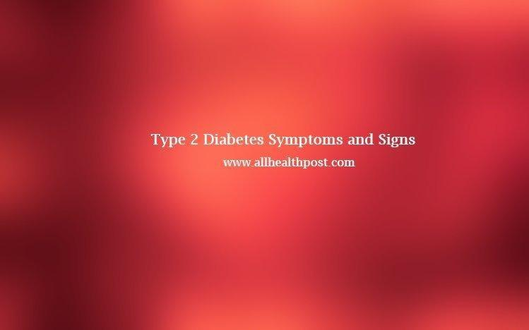 Type 2 Diabetes Symptoms And Signs, Causes