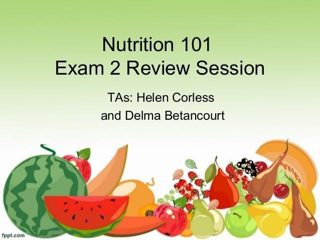 Nutrition Review Exam2