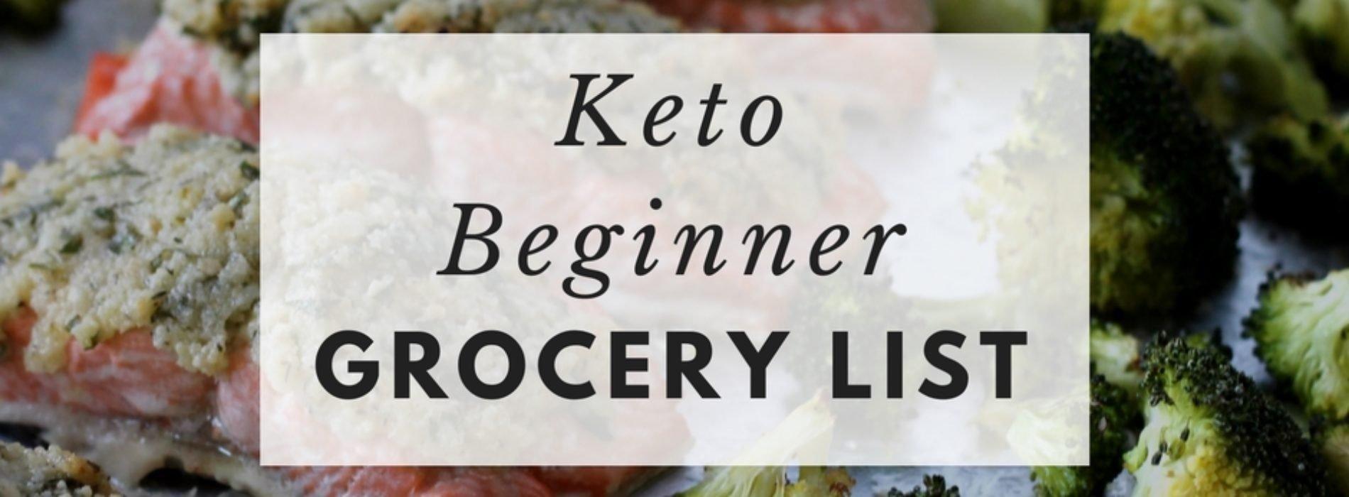 Keto Beginner Grocery List