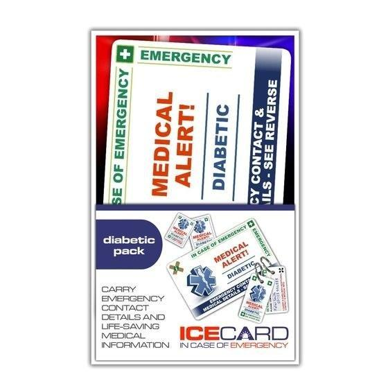 Diabetes In Case Of Emergency (i.c.e.) Card Pack