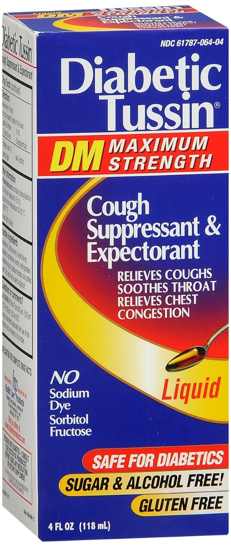 Diabetic Tussin Dm Cough Suppressant & Expectorant Liquid Maximum Strength | Asti's South Hills Pharmacy