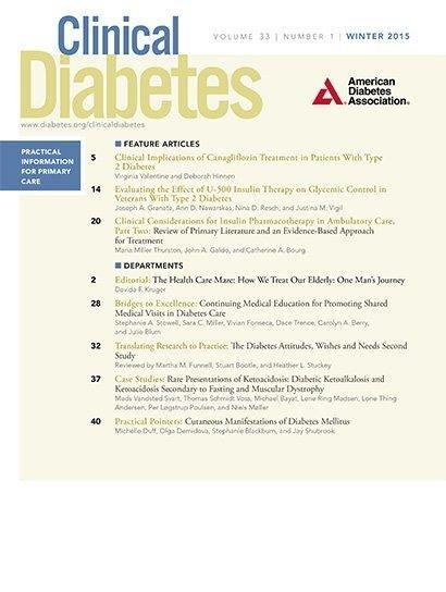 Clinical Considerations For Insulin Pharmacotherapy In Ambulatory Care, Part Two: Review Of Primary Literature And An Evidence-based Approach For Treatment