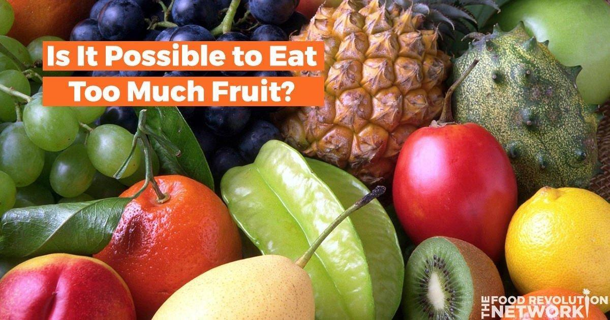 Can You Get Diabetes From Eating Too Much Fruit