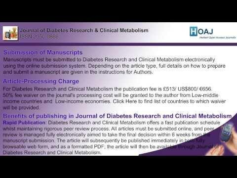 Articles - Journal Of Diabetes Research And Clinical Metabolism