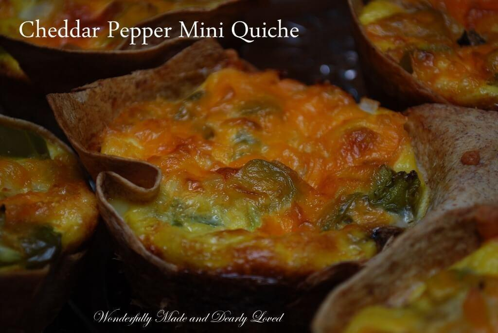 Cheddar Pepper Mini Quiche