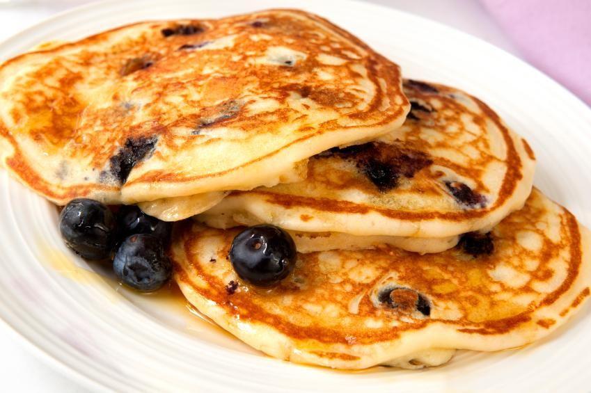 Diabetic Blueberry Pancakes