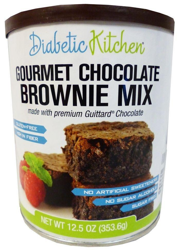 Diabetic Kitchen Gourmet Chocolate Brownie Mix At Netrition.com.