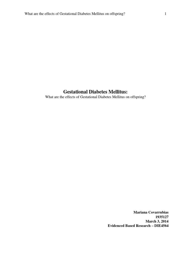 Gestational Diabetes Research Paper