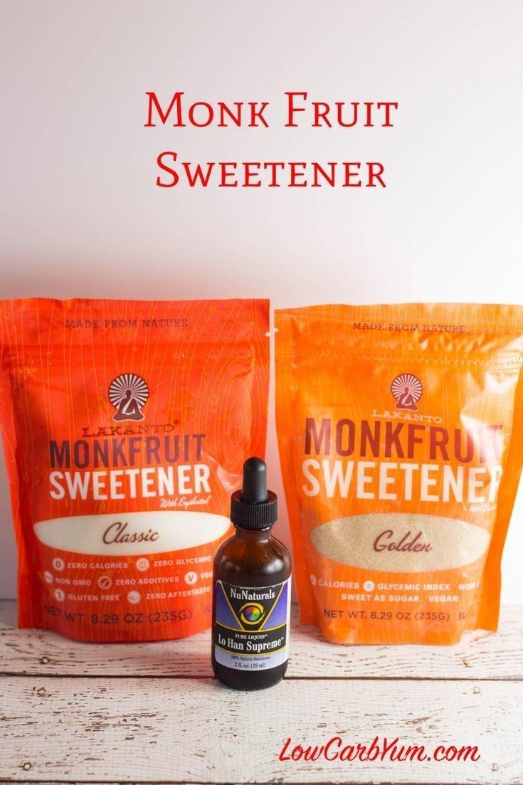 Monk Fruit Extract Sweetener – Best Low Carb Sweetener