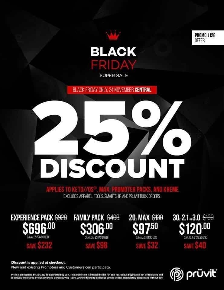 Pruvit Keto//os Black Friday Sale! Save 25% Off Storewide!!