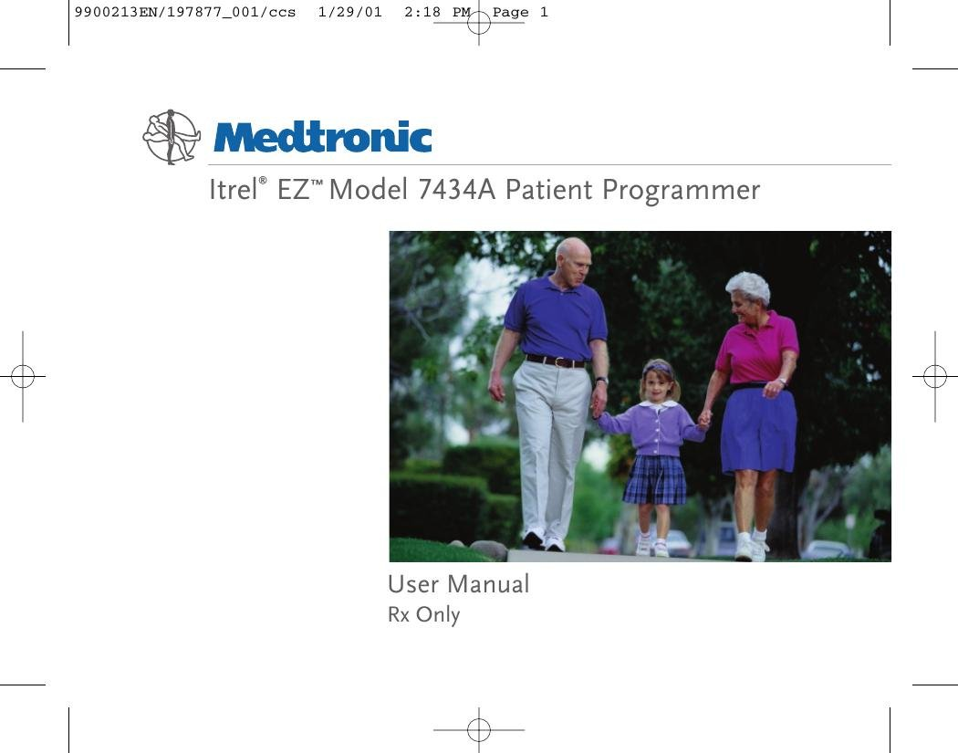 7434a Patient Programmer User Manual Manual Medtronic, Inc.