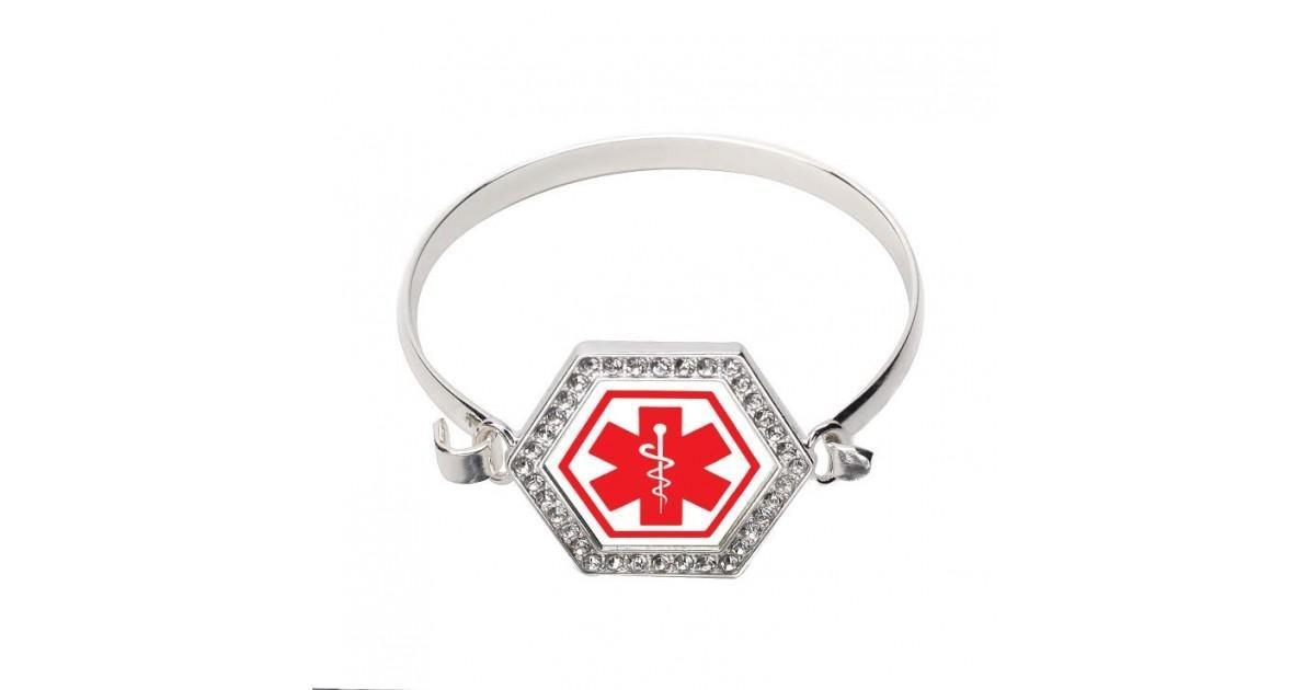 Diabetic Symbol Hexagon Bracelet
