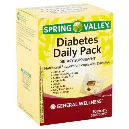 Spring Valley Diabetes Daily Pack Walmart