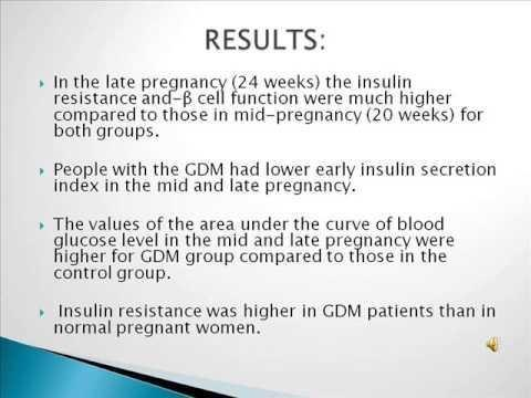 Why Is There Insulin Resistance During Pregnancy?