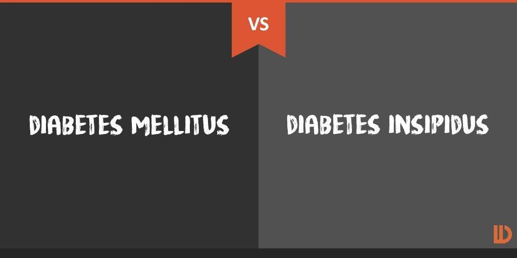 How Does Diabetes Mellitus Differ From Diabetes Insipidus