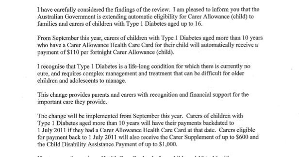 Carers Allowance For Child With Type 1 Diabetes
