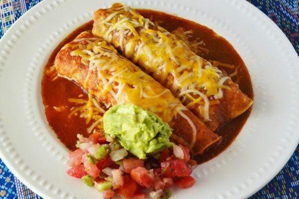 Chicken Enchiladas With Red And Green Sauce