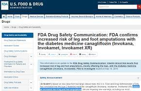 Diabetic Drug Invokana