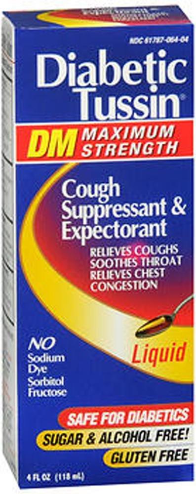 Diabetic Tussin Dm Cough Suppressant/expectorant Maximum Strength - 4 Oz