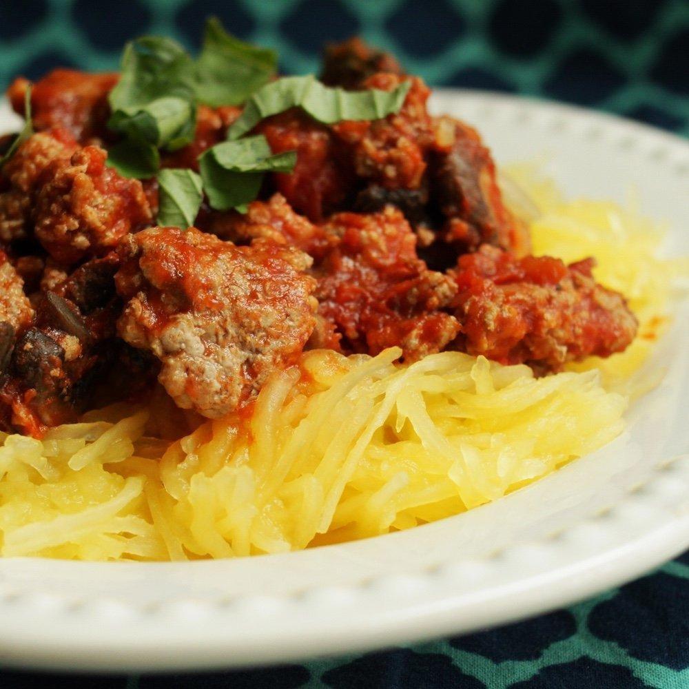 Spaghetti Squash With Turkey Marinara - Type2diabetes.net
