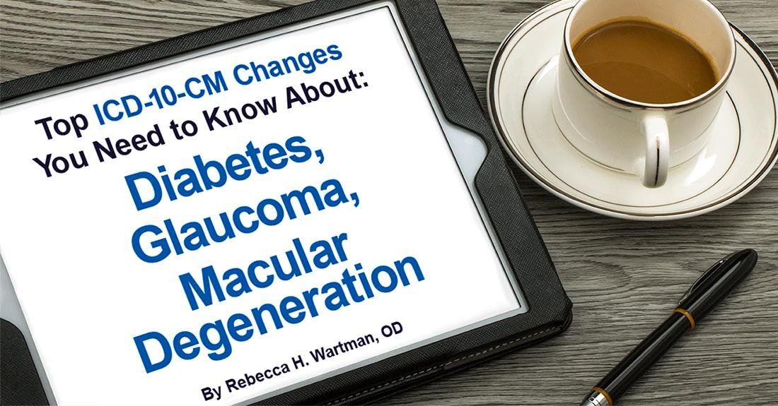 Top Icd-10-cm Changes: Diabetes, Glaucoma And Macular Degeneration
