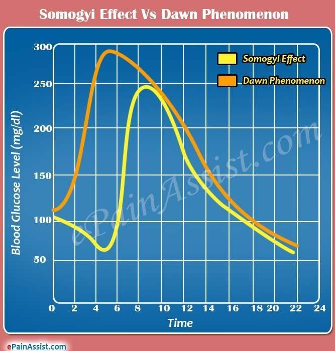 Difference Between Dawn Phenomenon And Somogyi Effect