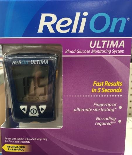 Abbott's Precision Xtra Monitor Now Being Sold As Relion Ultima At Walmart