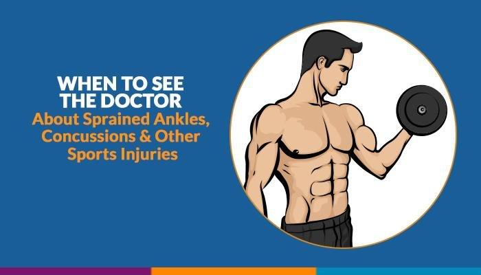 When To See The Doctor About Sprained Ankles, Concussions & Other Sports Injuries