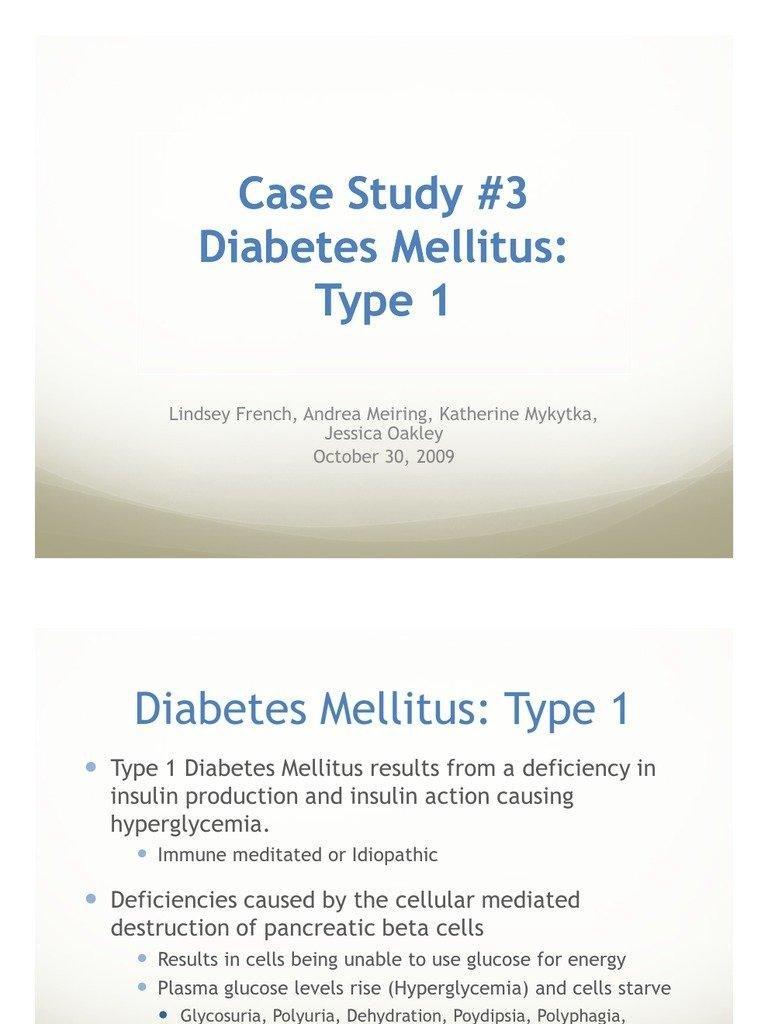 Case Study Diabetes Type 1 Quizlet