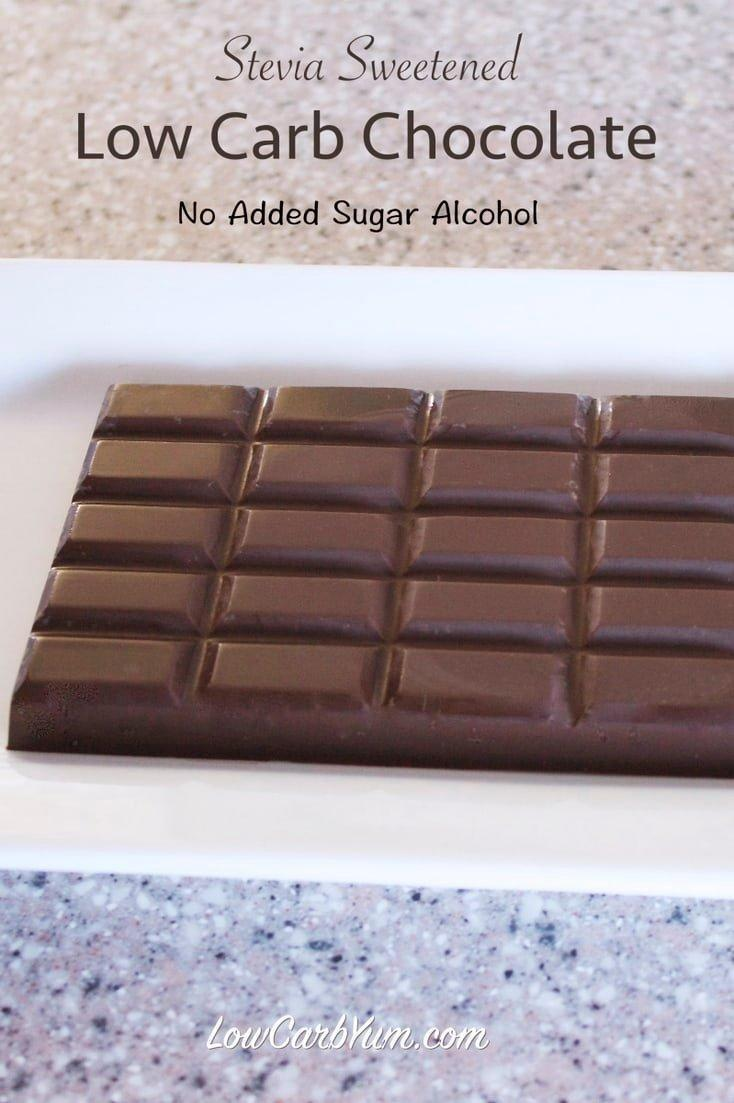 Sugar Free Chocolate Recipe Made With Stevia