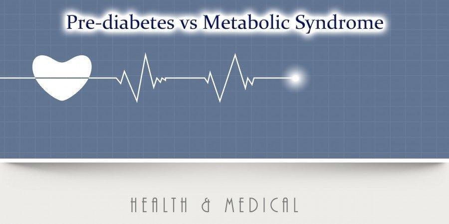 Difference Between Pre-diabetes, Insulin Resistance, And Metabolic Syndrome X