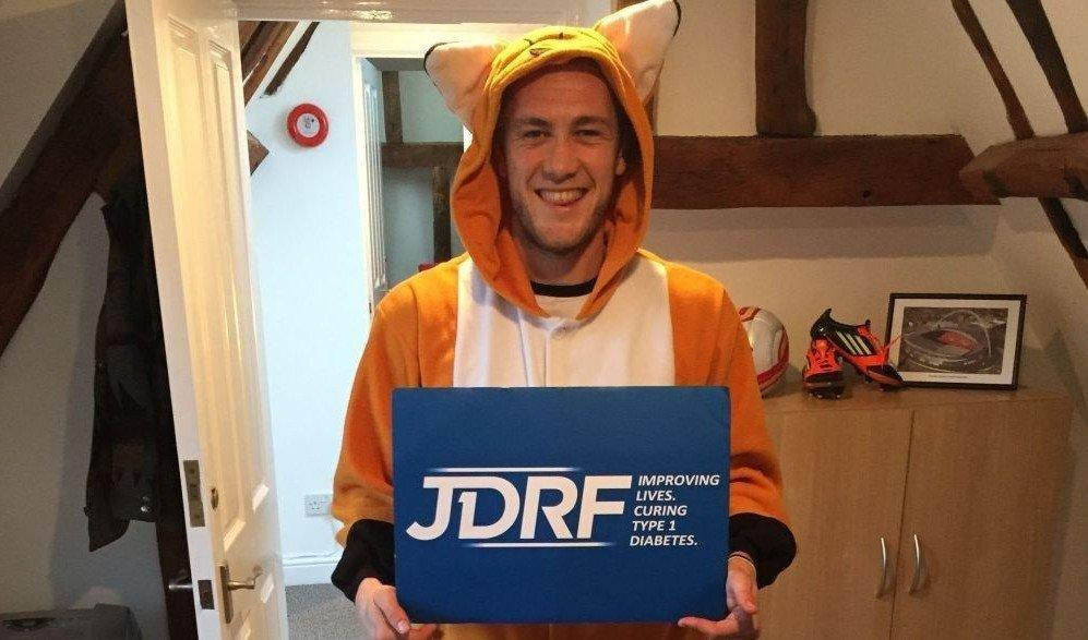 Professional Footballer With Type 1 Diabetes Swaps Shin Pads For A Onesie