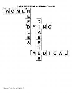 Diabetes Crossword Puzzle Tricare North