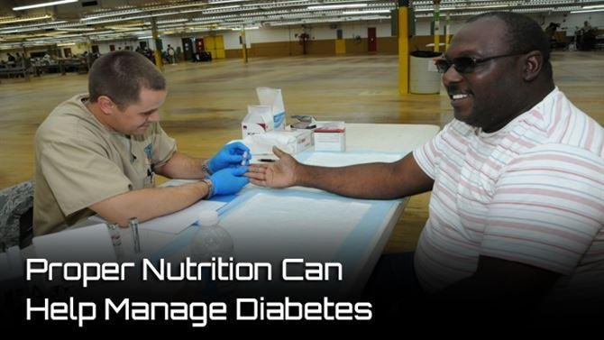 Proper Nutrition Can Help Manage Diabetes