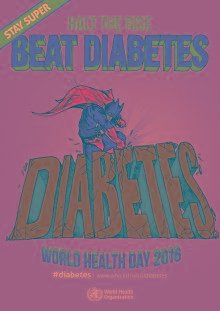 Posters: Stay super. Beat diabetes
