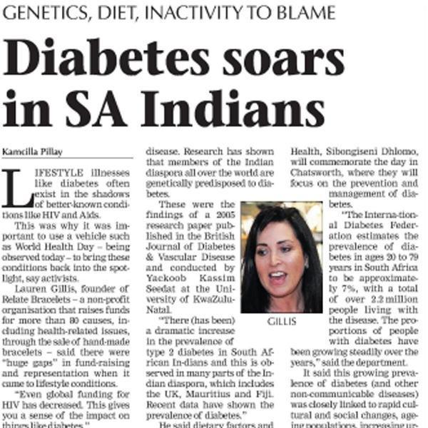 Mercury - Diabetes Soars In Sa Indians