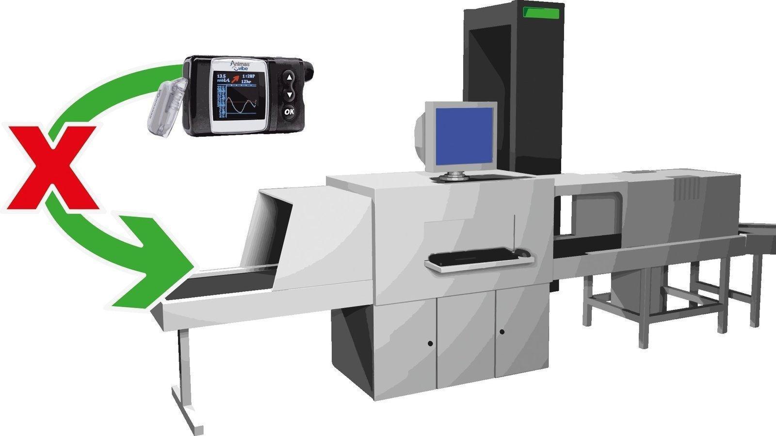 Insulin Pump Airport Body Scanner