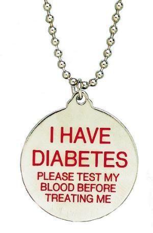 Diabetes Medical Alert Charm