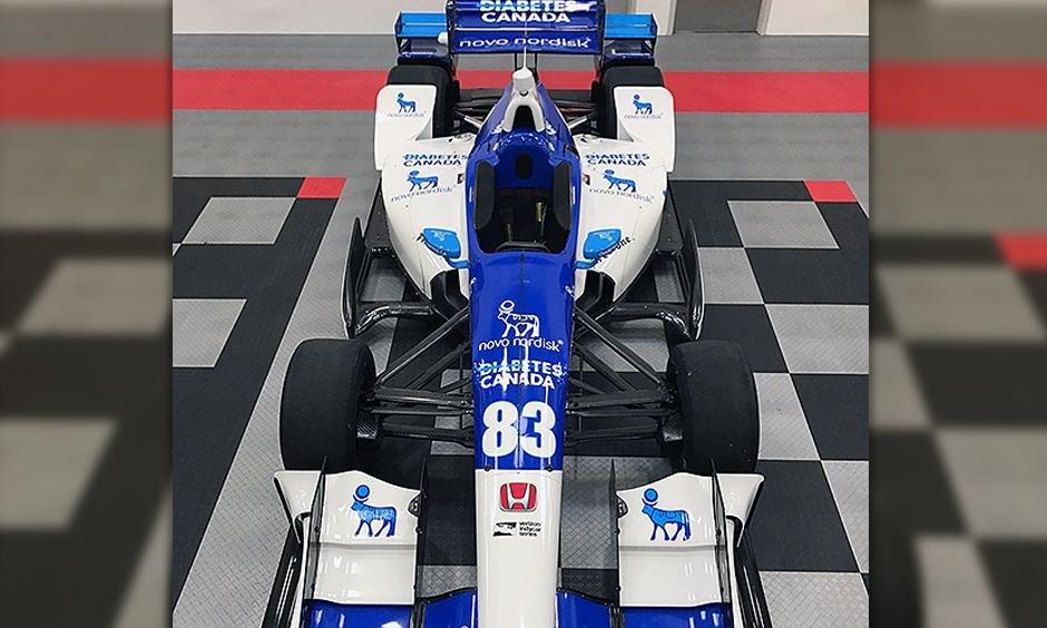 Charlie Kimball's Car Livery For Toronto Spreads Diabetes Message
