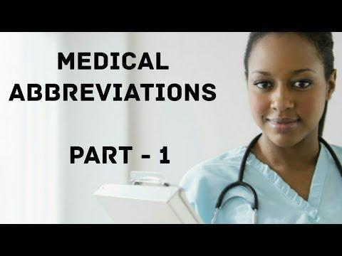 List Of Medical Abbreviations: B