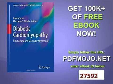 Diabetic Cardiomyopathy Mechanisms Diagnosis And Treatment