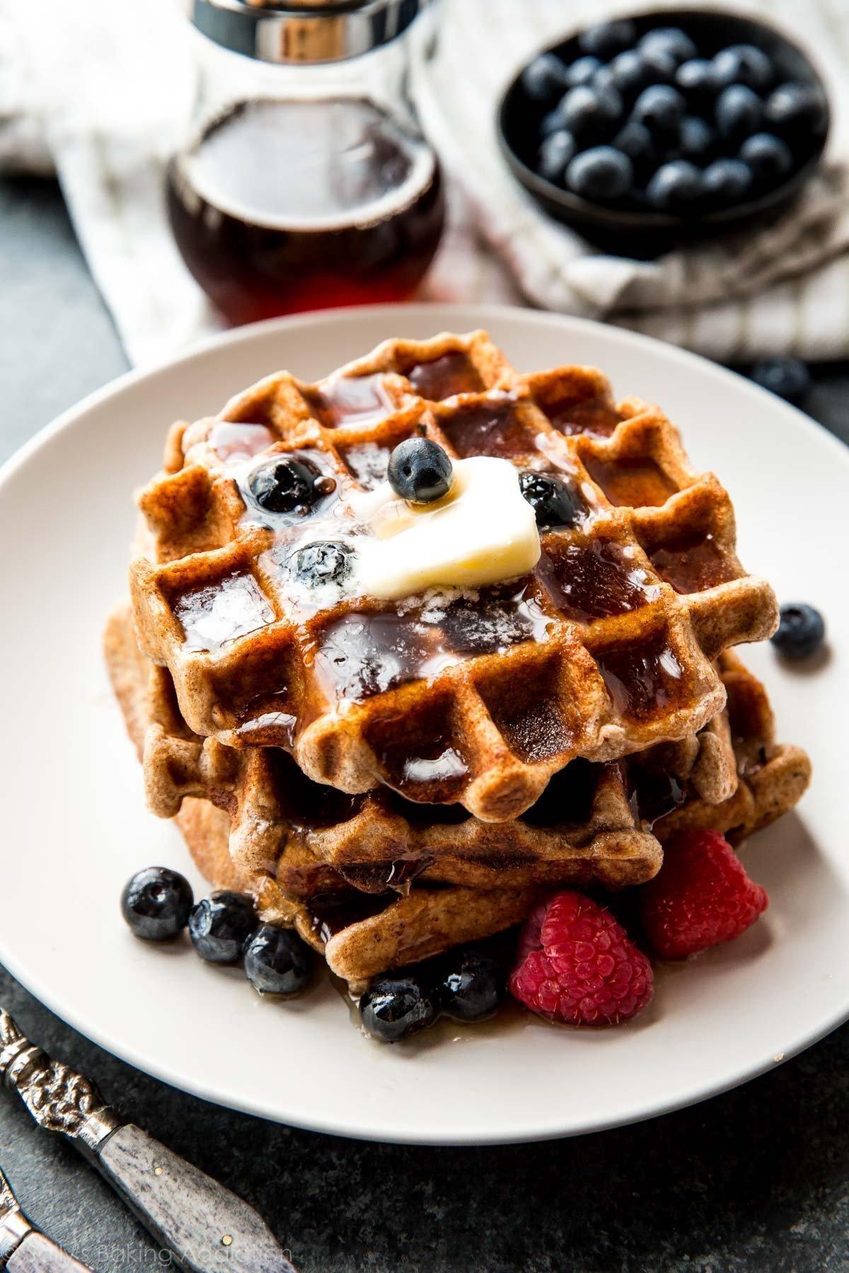 Fluffy Whole Wheat Waffles