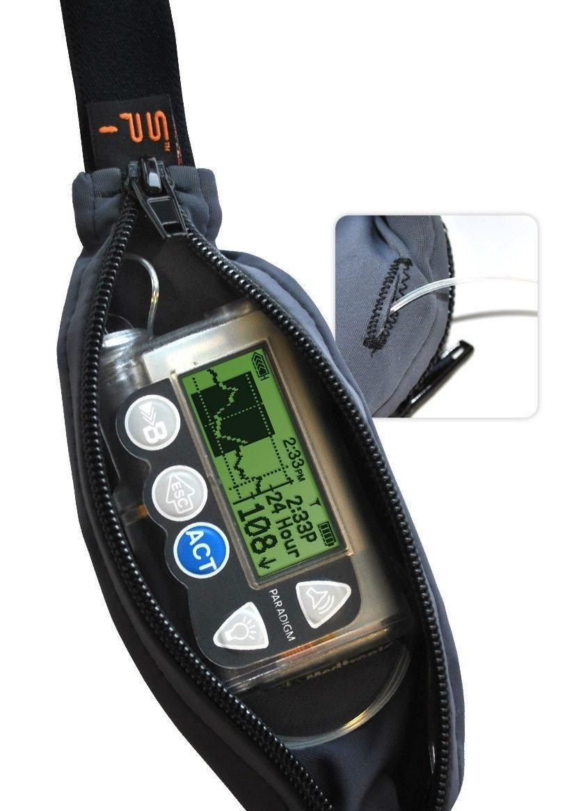 Diabetic Spibelt: Waist Belt W/ Insulin Pump Pouch. Free Us Shipping.
